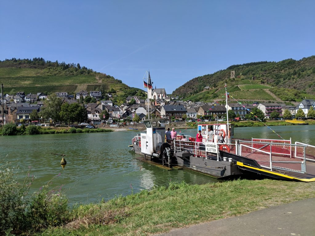 ferry on Moselle river