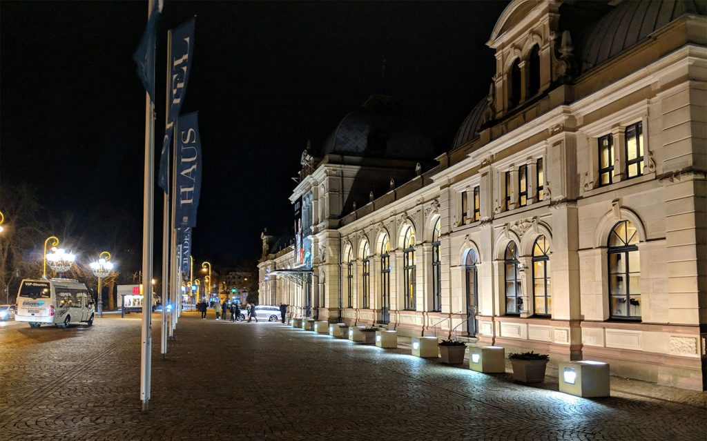 Festspielhaus was integrated with the former Baden-Baden railway station