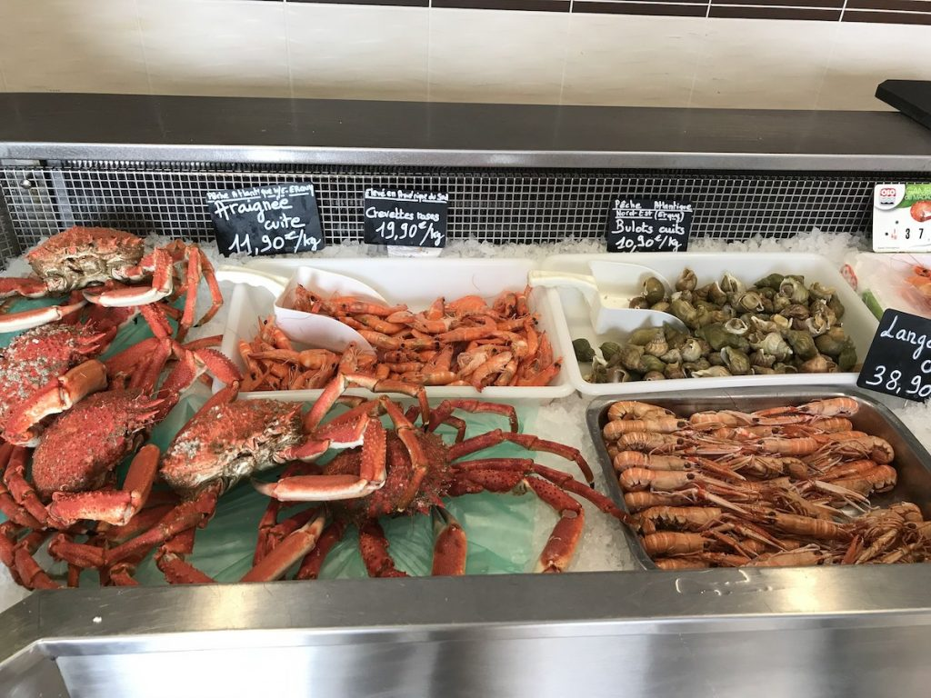 Seafood in Brittany