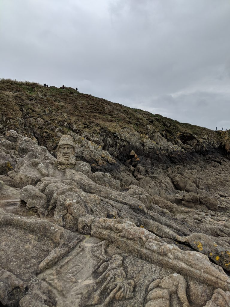 The Sculptured Rocks not so far from Saint-Malo