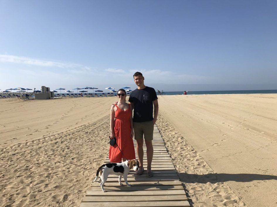 beach vacation with a dog in Spain
