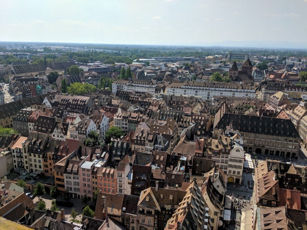 Strasbourg from the top of Cathedral