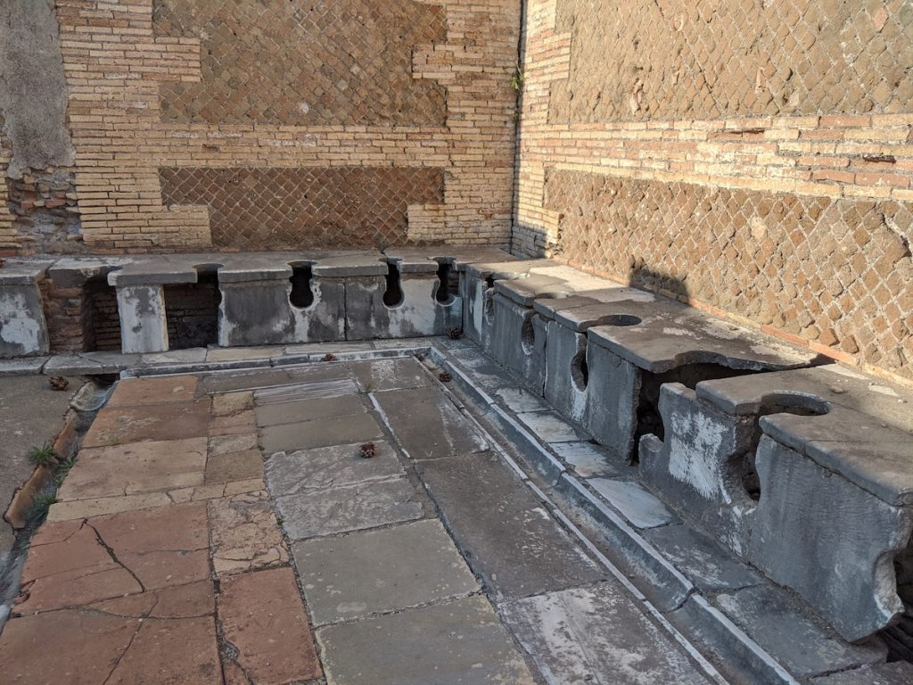Ancient toilets in Ostia Antica