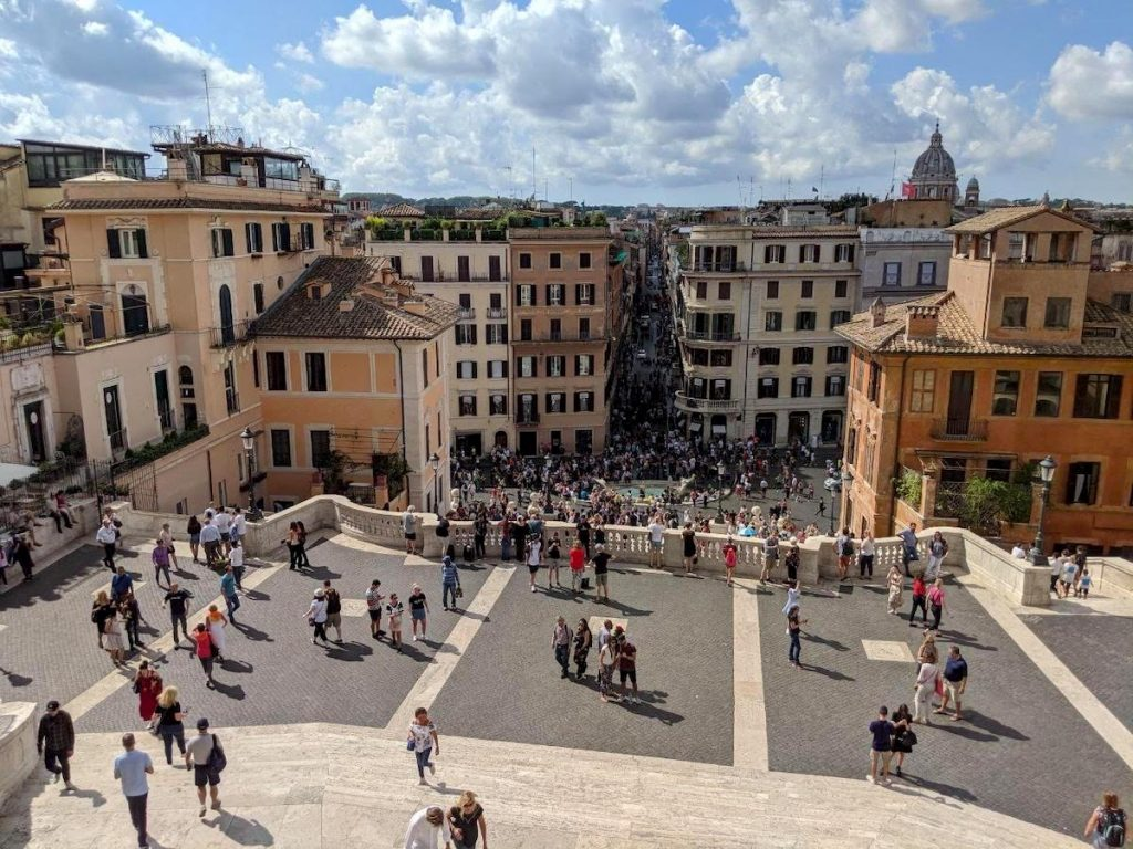 View of Rome from the Spanish Steps