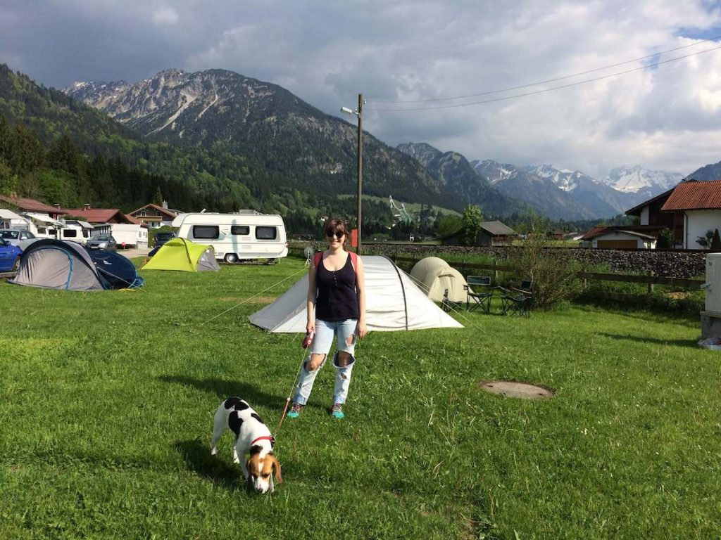 Dog-friendly camping in Oberstdorf, Germany